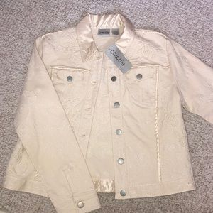 CHICO'S cream denim jacket